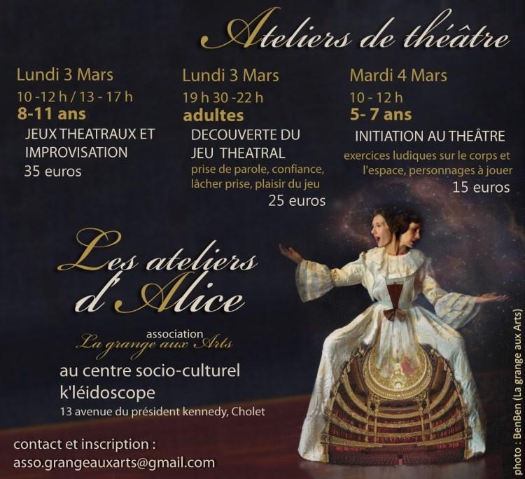 Stage theatre ateliers d Alice mars 14